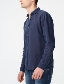 ARMANI EXCHANGE Pigment-Dyed Button-Down Shirt Long sleeve shirt U d