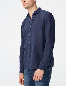 ARMANI EXCHANGE Pigment-Dyed Button-Down Shirt Long sleeve shirt Man f