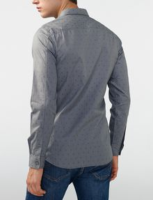 ARMANI EXCHANGE Textured Cotton Shirt Long sleeve shirt Man r