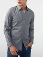ARMANI EXCHANGE Textured Cotton Shirt Long sleeve shirt [*** pickupInStoreShippingNotGuaranteed_info ***] f