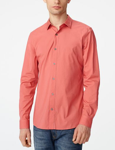 ARMANI EXCHANGE Stretch Slim-Fit Shirt Man front