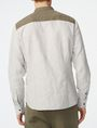ARMANI EXCHANGE Band Colllar Linen Shirt Long sleeve shirt Man r
