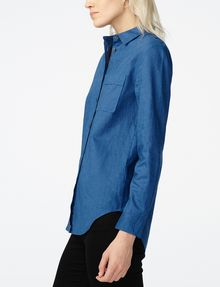 ARMANI EXCHANGE Linen Button-Down Shirt Button Down Shirt D d