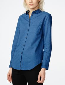 ARMANI EXCHANGE Linen Button-Down Shirt Button Down Shirt Woman f
