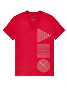 ARMANI EXCHANGE Geometry Icon Logo Tee Graphic Tee U d