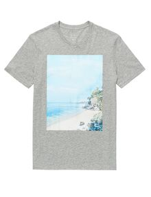 ARMANI EXCHANGE Serene Scene Tee Graphic Tee U d