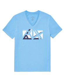 ARMANI EXCHANGE Cut & Color Logo Tee Graphic Tee U d
