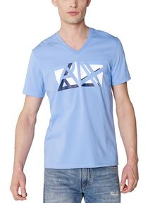 ARMANI EXCHANGE Cut & Color Logo Tee Graphic Tee U f