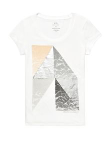 ARMANI EXCHANGE Nature Foil Graphic Tee Graphic T-shirt Woman d