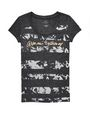 ARMANI EXCHANGE Burnout Stripe Logo Tee Short Sleeve Tee D d
