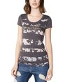 ARMANI EXCHANGE Burnout Stripe Logo Tee Short Sleeve Tee Woman f