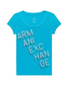 ARMANI EXCHANGE Stacked Logo Tee Graphic Tee D d