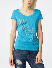 ARMANI EXCHANGE Stacked Logo Tee Graphic Tee D f