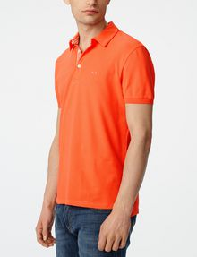 ARMANI EXCHANGE Contrast Placket Pique Polo SHORT SLEEVES POLO Man d