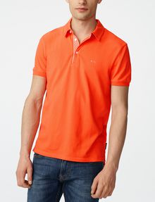 ARMANI EXCHANGE Contrast Placket Pique Polo SHORT SLEEVES POLO Man f