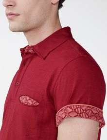 ARMANI EXCHANGE Grid Detail Polo Shirt Short-sleeved polo U e