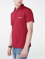ARMANI EXCHANGE Grid Detail Polo Shirt Short-sleeved polo U d