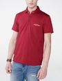 ARMANI EXCHANGE Grid Detail Polo Shirt Short-sleeved polo U f
