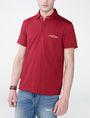 ARMANI EXCHANGE Grid Detail Polo Shirt SHORT SLEEVES POLO U f