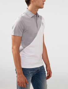 ARMANI EXCHANGE Diagonal Colorblock Logo Polo SHORT SLEEVES POLO Man d