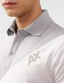 ARMANI EXCHANGE Diagonal Colorblock Logo Polo SHORT SLEEVES POLO Man e
