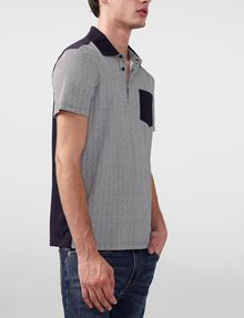ARMANI EXCHANGE Pattern Block Pocket Polo Short-sleeved polo U d