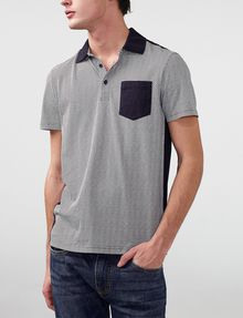 ARMANI EXCHANGE Pattern Block Pocket Polo Short-sleeved polo U f