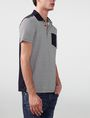 ARMANI EXCHANGE Pattern Block Pocket Polo Short-sleeved polo U d