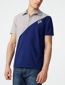 ARMANI EXCHANGE Diagonal Colorblock Logo Polo SHORT SLEEVES POLO Man f