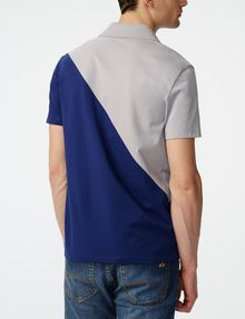 ARMANI EXCHANGE Diagonal Colorblock Logo Polo SHORT SLEEVES POLO Man r