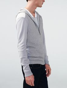 ARMANI EXCHANGE Jersey Stitch Colorblock Hoodie Zip-up U d