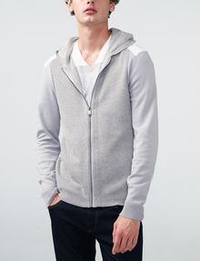 ARMANI EXCHANGE Jersey Stitch Colorblock Hoodie Zip-up U f