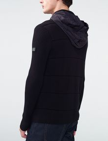 ARMANI EXCHANGE Textured Stitch Packable Hood Jacket Zip-up U e