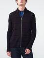 ARMANI EXCHANGE Textured Stitch Packable Hood Jacket Zip-up U f