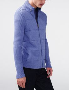 ARMANI EXCHANGE Textured Stitch Packable Hood Jacket Zip-up U d