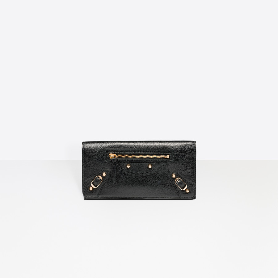 BALENCIAGA Classic Money Gold Classic Money Portemonnaie D f