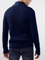 ARMANI EXCHANGE Textured Ottoman-Stitch Cardigan Cardigan Man r