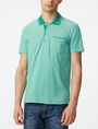ARMANI EXCHANGE Bicolor Pique Pocket Polo SHORT SLEEVES POLO U f