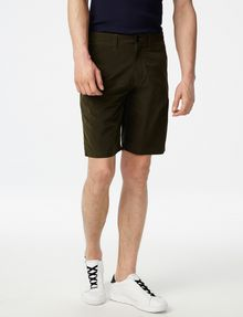 ARMANI EXCHANGE Accent Zip Tech Shorts Chino Short U f