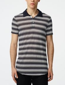 ARMANI EXCHANGE Multi-Stripe Polo Short-sleeved polo U f