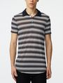ARMANI EXCHANGE Multi-Stripe Polo SHORT SLEEVES POLO U f