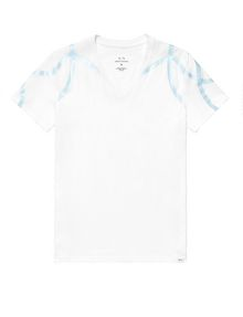 ARMANI EXCHANGE High-Shine Yoke V-Neck Graphic Tee U d