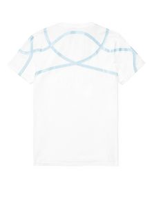 ARMANI EXCHANGE High-Shine Yoke V-Neck Graphic Tee U e
