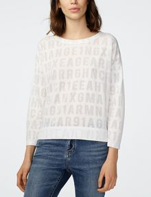 ARMANI EXCHANGE Burnout Logo Sweatshirt Top Sweatshirt D f