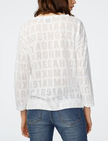 ARMANI EXCHANGE Burnout Logo Sweatshirt Top Sweatshirt D r