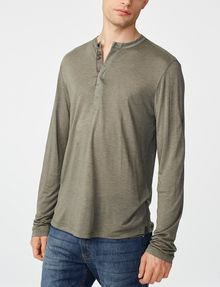 ARMANI EXCHANGE Roll-Sleeve Henley Long Sleeve tee U f