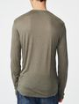 ARMANI EXCHANGE Roll-Sleeve Henley Long Sleeve tee U r