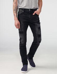 fae6cc0bc8 Armani Exchange Black Shredded Skinny Jean, Skinny Fit Denim for Men ...