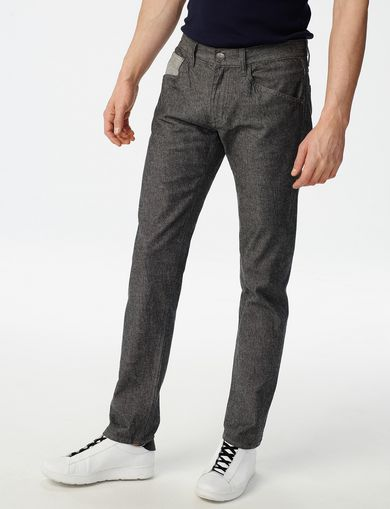 ARMANI EXCHANGE Grey Straight-Leg Trouser Jean Man front