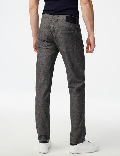 ARMANI EXCHANGE Grey Straight-Leg Trouser Jean Man retro